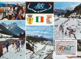 D21961 CARTE MAXIMUM CARD 1986 ITALY - SKIING LANGLAUFEN CP ORIGINAL - Skiing