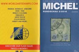 Briefmarken MICHEL Rundschau 2/2016 Neu 6€ New Stamps Of The World Catalogue/magacine Of Germany  ISBN 978-3-95402-600-5 - Zeitschriften