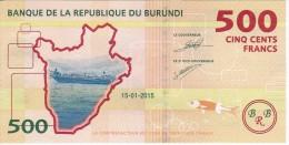 BILLETE DE BURUNDI DE 500 FRANCS DEL AÑO 2015  SIN CIRCULAR-UNCIRCULATED (BANKNOTE) - Burundi