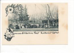 PK-CP Deutschland, Schlöschens-Kopf Restaurant Röthel, Ungebraucht, Siehe Bilder! - *) - Restaurants