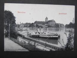 AK BRESLAU Sandinsel Schiff 1918  /// D*19305 - Schlesien