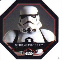 STAR WARS 2015 Vignette Jeton Image Carte LECLERC Disney Numéro 12 STORMTROOPER - Episode I