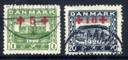 DENMARK 1921 Red Cross Surcharge Set, Used. Michel 116-17 - 1913-47 (Christian X)