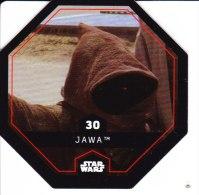 STAR WARS 2015 Vignette Jeton Image Carte LECLERC Disney Numéro 30 JAWA - Episode I
