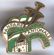 Pin´s  Fanfare De La Police Cantonale Vaudoise - Suisse - HUGUENIN LE LOCLE - Polizia