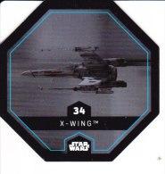 STAR WARS 2015 Vignette Jeton Image Carte LECLERC Disney Numéro 34 X WING - Episode I