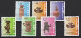 A344.-. KOLUMBIEN / COLOMBIA.  1973 .-. MI#: 1246-1252 - MNH - ARCHAEOLOGY . CV€: 9.00 - Colombie