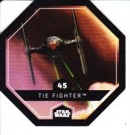 STAR WARS 2015 Vignette Jeton Image Carte LECLERC Disney Numéro 45 TIE FIGHTER - Episode I