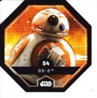 STAR WARS 2015 Vignette Jeton Image Carte LECLERC Disney Numéro 54 BB 8 - Episode I