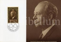 ROYALTY / Liechtenstein / Franz Joseph II / 1981 - Maximumkaarten