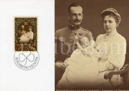 ROYALTY / Liechtenstein / Aloïs De Liechtenstein / Élisabeth De Habsbourg-Lorraine / Franz Joseph II / 1981 - Maximumkaarten