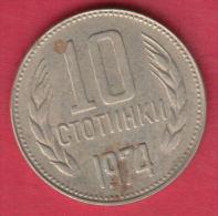 F6272 / - 10 Stotinki - 1974 - Bulgaria Bulgarie Bulgarien Bulgarije - Coins Monnaies Munzen - Bulgarie