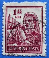 1507 ROMANIA 1,55 L 1955 JOBS TEXTILE WORKER - USED - Oblitérés
