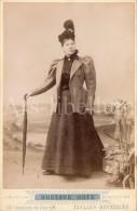 Cabinet Card / Photo De Cabinet / Kabinet Foto / Femme / Woman / Photo Gustave Hotz / Ixelles / Bruxelles - Anciennes (Av. 1900)