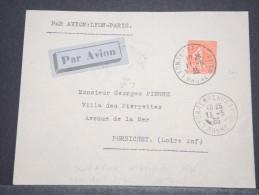 FRANCE - Env Par Avion Pour Pornichet - Tarif Avion Intérieur 85 C - RARE Seul Sur Lettre à Ce Tarif - Mai 1935 - P17130 - Poste Aérienne