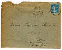 """Oblitération Ambulant """" Pontacq à Pau"""" Sur Enveloppe En 1925  Référence 465 - 1877-1920: Période Semi Moderne"""