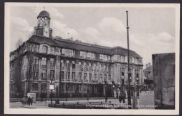 Litzmannstadt Wartegau Lodz Fotokarte Gymnasium Mit Hakenkreuz Am Turm Feldpost 1943 Res. Grenatier Btl. 465 - Polen