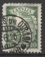 LATVIA 1934 15th Anniv Of New Constitution - 10s Arms & Shield  FU - Latvia