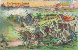Erstürmung Von Lüttich - Gedenkpostkarte 1914-1916 - Rückseite 1917 Beschrieben - Weltkrieg 1914-18