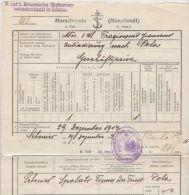 25962  KuK Kriegsmarine Ergänzungs Bezirkskommando In Sebenico On A 1914 Military Document - 1850-1918 Empire