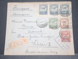 RUSSIE - Env Par Avion Et Recommandée De Moscou Pour Vienne (Autriche) - Affrt Poste Aérienne- Juin 1924 - P17149 - Covers & Documents