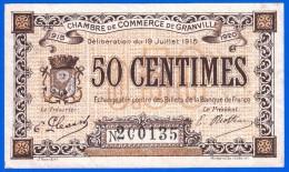 BON - BILLET - MONNAIE 19 JUILLET 1915 CHAMBRE DE COMMERCE 50 CENTIMES GRANVILLE 50 MANCHE N° 200135 - Chambre De Commerce