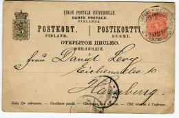 Entier Postal  En 1895 Référence 498 - Finland