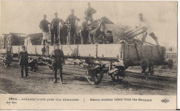ARTILLERIE LOURDE PRISE AUX ALLEMANDS CPA ANIMEE - Guerre 1914-18