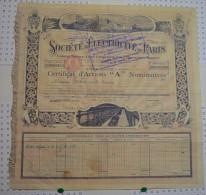 Sté D'Electricité De Paris, Certificat D'actions - Electricité & Gaz