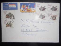 Afrique Du Sud Lettre De 1992 Pour Trachslau - Afrique Du Sud (1961-...)
