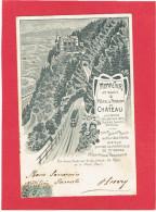 MONNETIER 1907 HOTEL PENSION DU CHATEAU CARTE EN TRES BON ETAT - Autres Communes