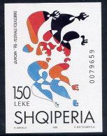 ALBANIA 1998 Europa: National Festivals Block  MNH / **.  Michel Block 112 - Albania