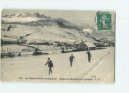 SPORTS D' HIVER En Dauphiné - Beau Plan De SKIEURS à Monestier De Clermont -  2 Scans - Sports D'hiver