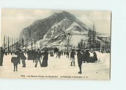 SPORTS D' HIVER En Dauphiné - Beau Plan Des PATINEURS à Grenoble -  2 Scans - Sports D'hiver