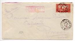 1927 - ENVELOPPE De CASABLANCA (MAROC) Avec SEUL Pour La SUISSE - Morocco (1891-1956)