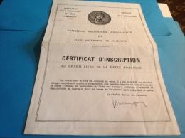 Service Pensions Militaire Victimes De Guerre Ministre Des Armée Guerre D Indochine 1939 1945 - Documents