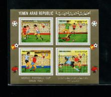 Yemen 1982 Soccer/Football World Cup Michel Set Of Souvenir Sheets Triangle Very Rare !!!! 3 PHOTO - Jemen