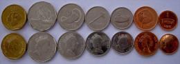 FIJI 2000-2009  SERIE 7 MONETE  1$  50-20-10-5-2-1 CENT FDC UNC - Fidschi