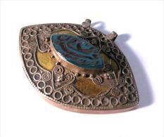 Beau Pendentif Oriental En Argent / Nice Big Oriental Pendant Made Of Silver With Arabic Scriptures - Oriental Art