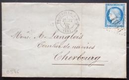 0546 Calvados N°60 GC 4033 + D9 Trouville Sur Mer + Cachet Henri Fautrel Courtier De Navires 22/11/1872 - 1849-1876: Classic Period