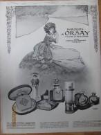 1  Publicité 1913   Parfums D Orsay  17 Rue De La Paix Paris   Parfumeur  Parfumerie Chateau Des Bouvets  Puteaux - Advertising