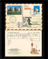1986 - VN/UNO Vienna Prepaid Card - Transport - Hot Air Balloons - 75, Ballonpostflug Mit Bordstempel [HG008] - Cartas