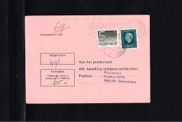 1978 - Netherlands Surcharge Card - 65c - Wormerveer [HG064] - Period 1949-1980 (Juliana)