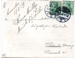 Brief Von Hannover Nach Wien 1909 - Lettres & Documents