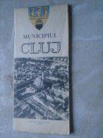 ROMANIA  -Municipiul  CLUJ  -Kolozsvár   Map Carte    1972   D137854 - Cartes