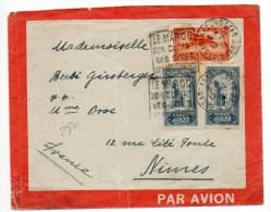 1930 - ENVELOPPE ILLUSTREE PAR AVION De CASABLANCA Avec DAGUIN Pour NIMES - Briefe U. Dokumente