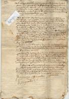 VP3025 -BEAUNE -  Acte De Partage Entre Mrs PIGNOLET  Frères Au Village De LEVERNOIS - Manuscripts
