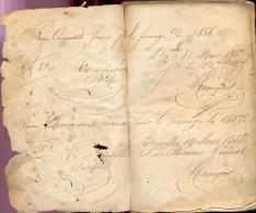 Handschrift Boekje Livre - ,fernage Depuis 1856 - Receveur Hospices De Bruxelles - Old Paper