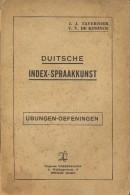 Duitse Index Spraakkunst - Ubungen - Tavernier - De Koninck - Uitg Verbeke Loys Brugge 1941 - Livres, BD, Revues
