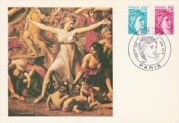 Yvert  N° 1976 + 1978 FDC Carte Maximum Sabine Paris 3/6/1978 - Maximum Cards